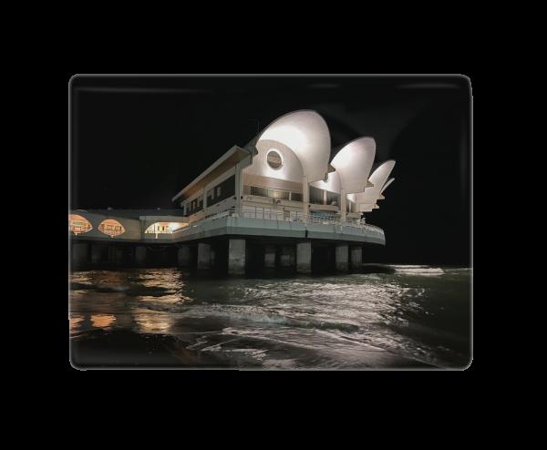 Terrazza a Mare di notte - Fliese 10 x 15 cm