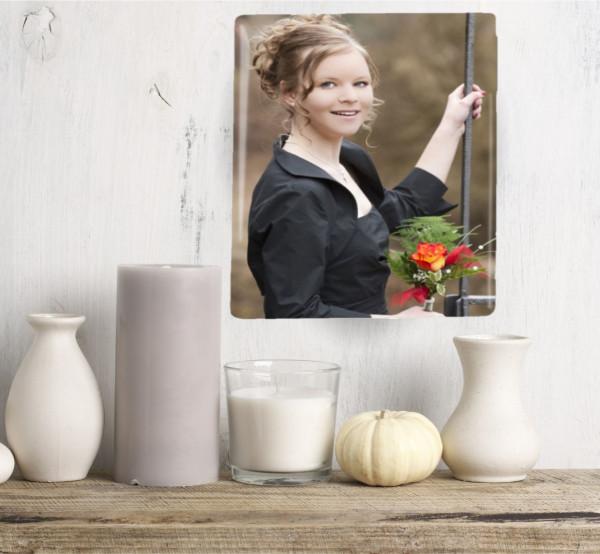 Porzellanbild in rechteckiger Form ohne Rand